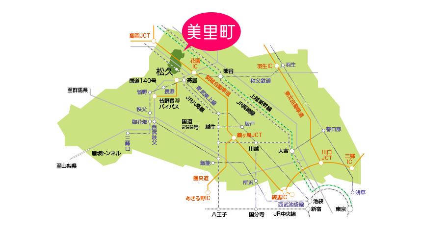 美里町周辺地図